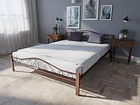 Кровать MELBI Элис Люкс Вуд Двуспальная 120200 см Бордовый лак КМ-018-02-6бор, КОД: 1396325