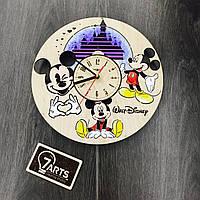 Детские настенные часы Микки Маус Цветные CL-0069, КОД: 1474259