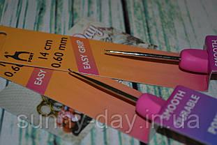 Крючок для вязания стальной с эргономичной ручкой PONY №0.6