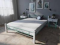 Кровать MELBI Лара Люкс Вуд Двуспальная  180200 см Бирюзовый КМ-015-02-8бир, КОД: 1398011