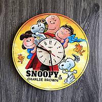 Настенные часы 7Arts Снупи Разноцветный CL-0251, КОД: 1474663