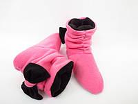 Классные милые флисовые тапочки-сапожки =Бантики=тепло и комфорно,розовые