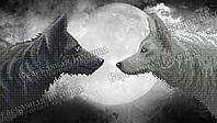 Полнолуние. Волки. Схема вышивки бисером