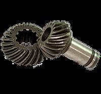 Шестерня пара редуктора косы (7 шлицов). Малая шестерня 15 зубов, большая шестерня 20 зубов Iron