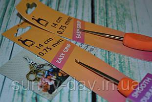 Крючок для вязания стальной с эргономичной ручкой PONY №0.75