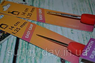Крючок для вязания стальной с эргономичной ручкой PONY№1.25