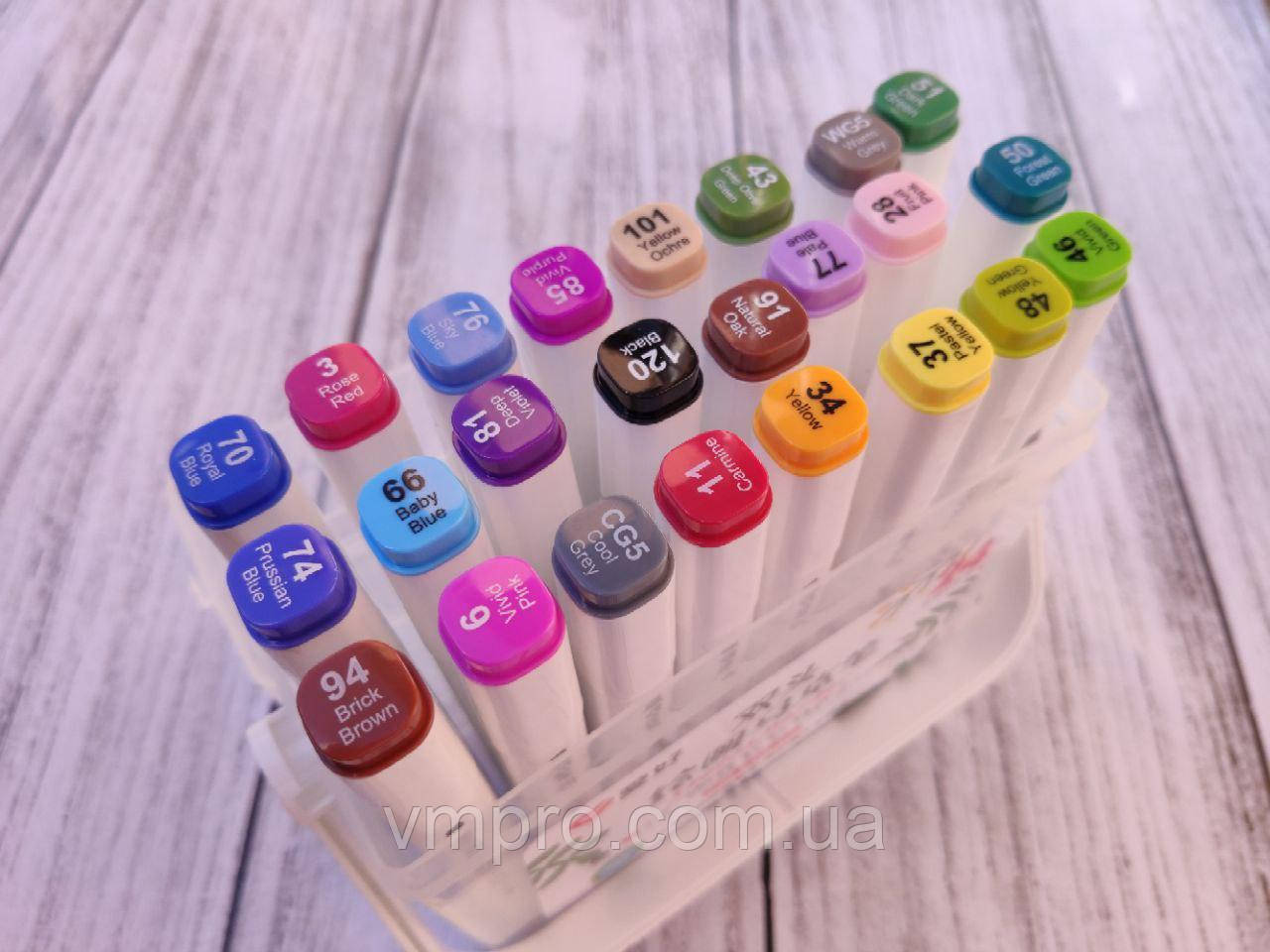 """Скетч маркеры """"Sketch marcer"""" набор 24 цвета, Aihao набор в пластиковом боксе."""