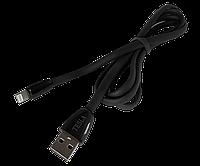 Дата кабель Tesla Lightning, 2.4A, Черный