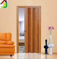 Дверь гармошка Folding Дуб Рустикальный,складная, двери раздвижные межкомнатные ПВХ, скрытые
