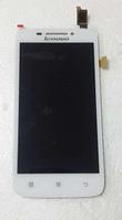 Оригинальный дисплей (модуль) + тачскрин (сенсор) для Lenovo S650 (белый цвет)