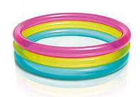 Бассейн круглый Intex 3 кольца Разноцветный 57104, КОД: 1331968