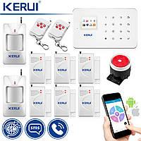 Комплект беспроводной GSM сигнализации Kerui G18 max  prof, КОД: 1650208