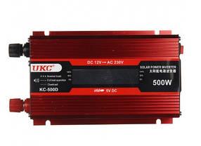 Инвертор преобразователь UKC KC-500D AC DC 12 220 В LCD 500W 3738, КОД: 1541985