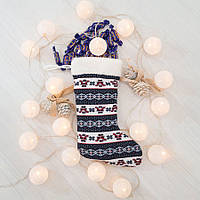 Сапог новогодний подарочный Золушка Санта Клаус 37см 291-1, КОД: 1463742