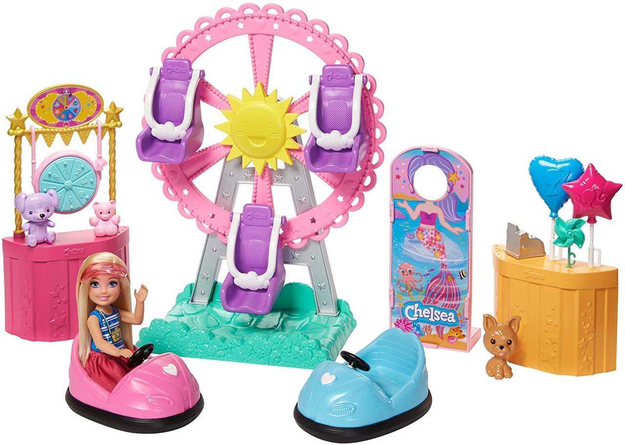Игровой набор кукла Барби Челси Колесо обозрения Веселый городок Barbie Club Chelsea GHV82