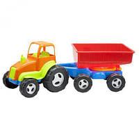 Детский игрушечный Трактор с прицепом КВ.