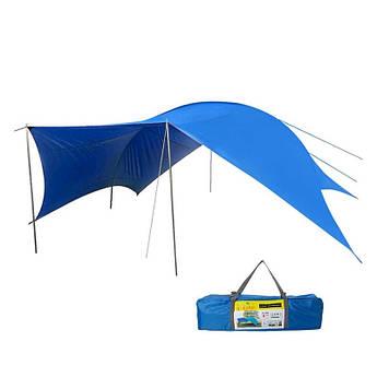 Тент кемпінговий для пляжу і пікніка GreenCamp, синій, GC0996