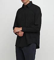 Мужская рубашка Classic Tige 43-44 Черный СТ-001, КОД: 1608833