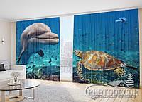 """Фото Шторы """"Дельфин и черепаха"""""""