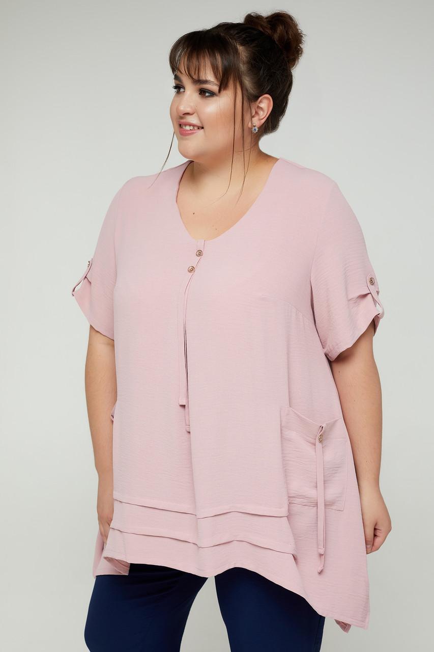 Блуза жіноча вільного крою з жатки