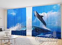 """Фото Шторы """"Дельфин на волнах"""""""