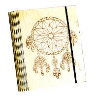 Блокнот Ben Wooden из дерева ручной работы А6 90 листов Ловец снов BW01231, КОД: 1317125