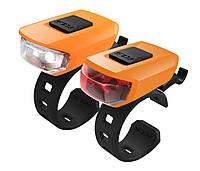 Комплект мигалок KLS VEGA USB Orange 8585019396105, КОД: 1349452