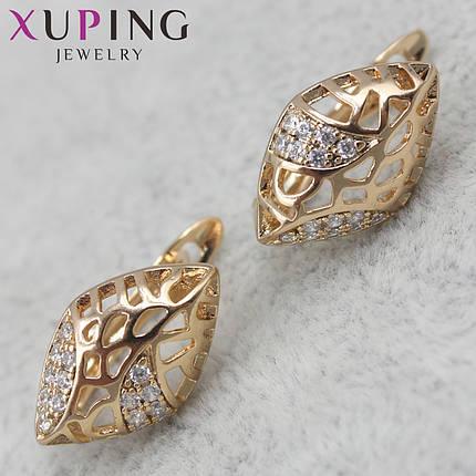 Сережки Xuping медичне золото, фото 2