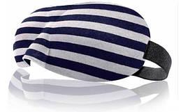 Очки для сна Deco 3D в полоску Черно-белый 937-02, КОД: 1806122