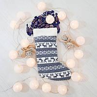 Сапог новогодний подарочный Золушка олени 37см 291-3, КОД: 1463736