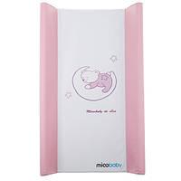 Пеленальный матрас Mioobaby большой, жесткий Sleeping on the Moon pink 9018191, КОД: 1635801