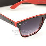 Мужские солнцезащитные очки Ray Ban Wayfarer RB 2140 красные унисекс рей бен мода реплика, фото 2