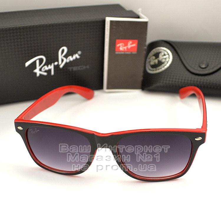 Мужские солнцезащитные очки Ray Ban Wayfarer RB 2140 красные унисекс рей бен мода реплика