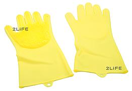 Перчатки силиконовые многофункциональные уборка, чистка, мытье посуды, ухваты 2Life Желтый n-530, КОД: 1680512