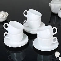 Классический сервиз чайный с блюдцами Luminarc Essence 6х220 мл (P3380)