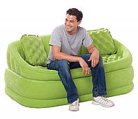 Надувной диван Intex 68573 + 2 подушки 157х86х69 см Зеленый 685732int, КОД: 1478913
