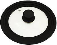 Крышка универсальная Vitrinor Spain Black 24 26 28 см стеклянная с силиконовым ободком psgVI-1108, КОД: 1143455
