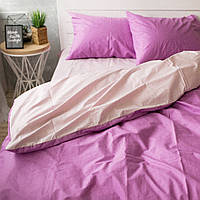 Комплект постельного белья Хлопковые Традиции Двухспальный 175x215 Фиолетово-розовый PF021двуспал, КОД: 740744