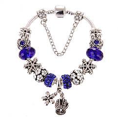 Женский браслет Jewel Antique Silver Plated Snow Blue Cеребристый AJbrJJi2, КОД: 1462489