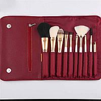 Набор кистей для макияжа Zoreya Red 10 шт 73490, КОД: 1464983