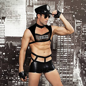 Костюм серьезного полицейского JSY L XL Черный brtJSY-6603, КОД: 1464209