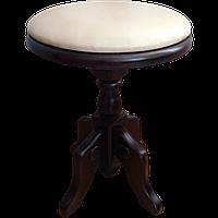 Табурет круглый Клевер Мебель Белый с коричневым hubCQyp00854, КОД: 1787011