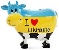 Копилка-коровка Bona I love Ukraine керамическая psgBD-504-125, КОД: 1132495