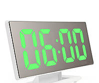 Настольные зеркальные часы UKC DS-3618L с подсветкой White 3618L-W, КОД: 1324056