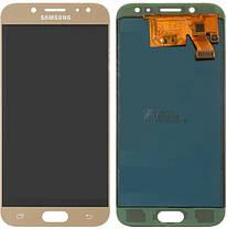 Модуль (дисплей+сенсор)Samsung J530F Galaxy J5(2017),J530F/DS,J530Y/DS (TFT З РЕГУЛЮВАННЯМ ЯСКРАВОСТІ) золотий, фото 2