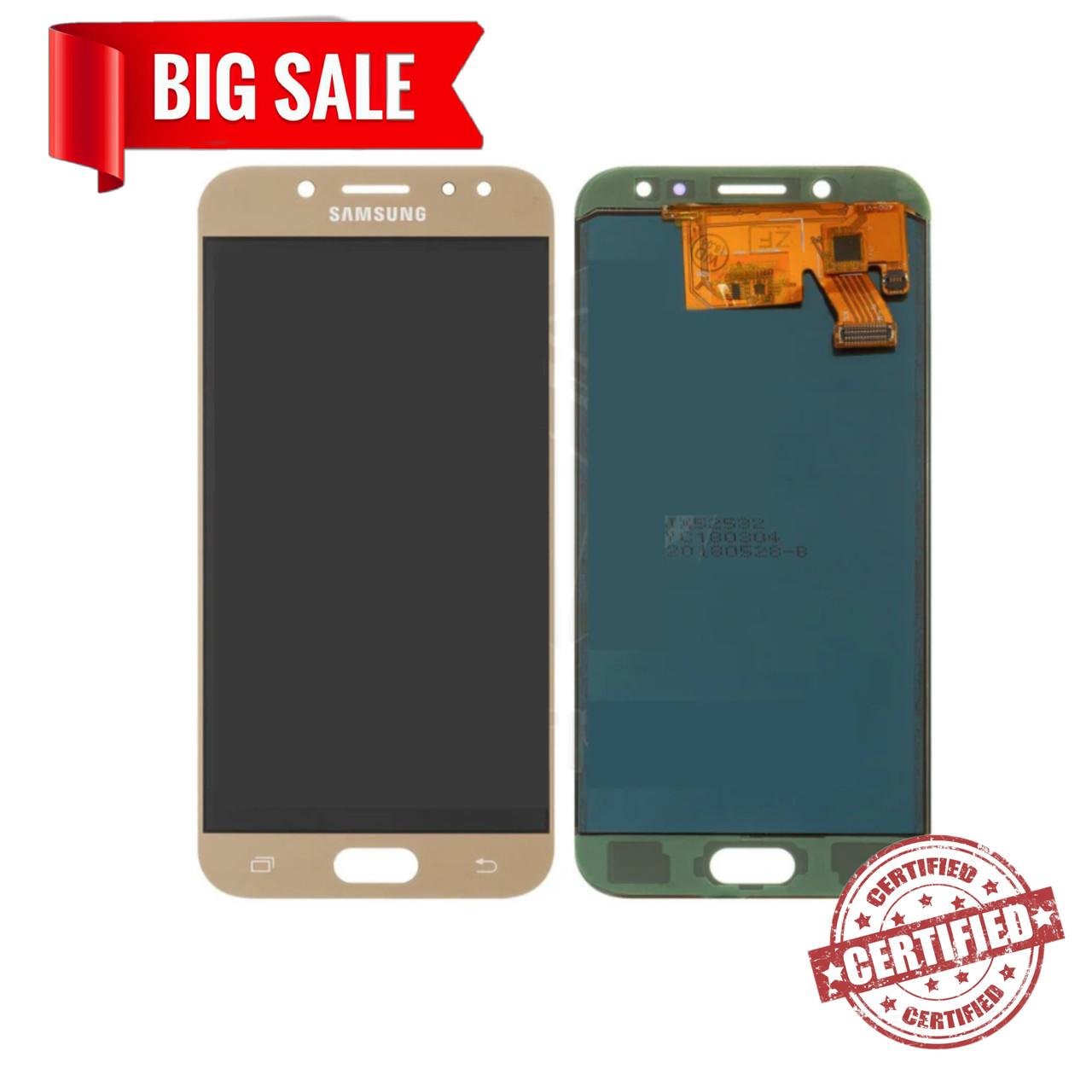 Модуль (дисплей+сенсор)Samsung J530F Galaxy J5(2017),J530F/DS,J530Y/DS (TFT З РЕГУЛЮВАННЯМ ЯСКРАВОСТІ) золотий
