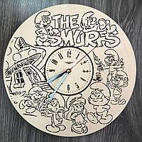 Детские настенные часы 7Arts Смурфики CL-0316, КОД: 1474579