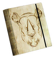 Блокнот Ben Wooden из дерева ручной работы А6 90 листов Носорог BW01234, КОД: 1317128
