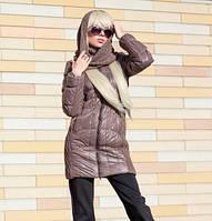 Куртка демисезонная женская с шарфом 44-48 р-р