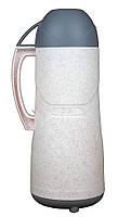 Термос пластиковый со стеклянной колбой Stenson DB105SX-L 0.5 л White 111719, КОД: 1752765